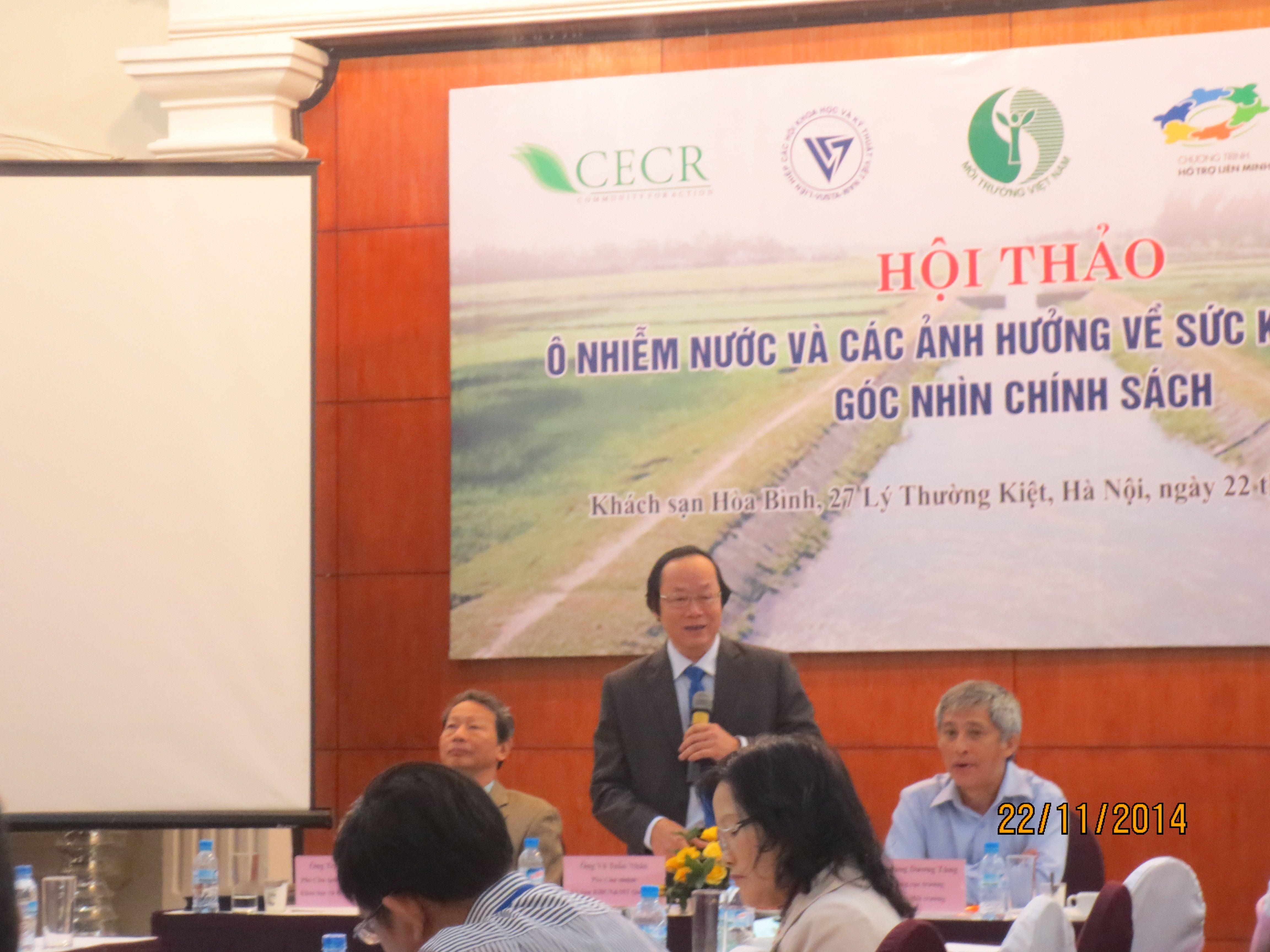 """Hội thảo """"Ô nhiễm nước và các Ảnh hưởng Sức khỏe – Kinh tế: Góc nhìn Chính sách"""""""