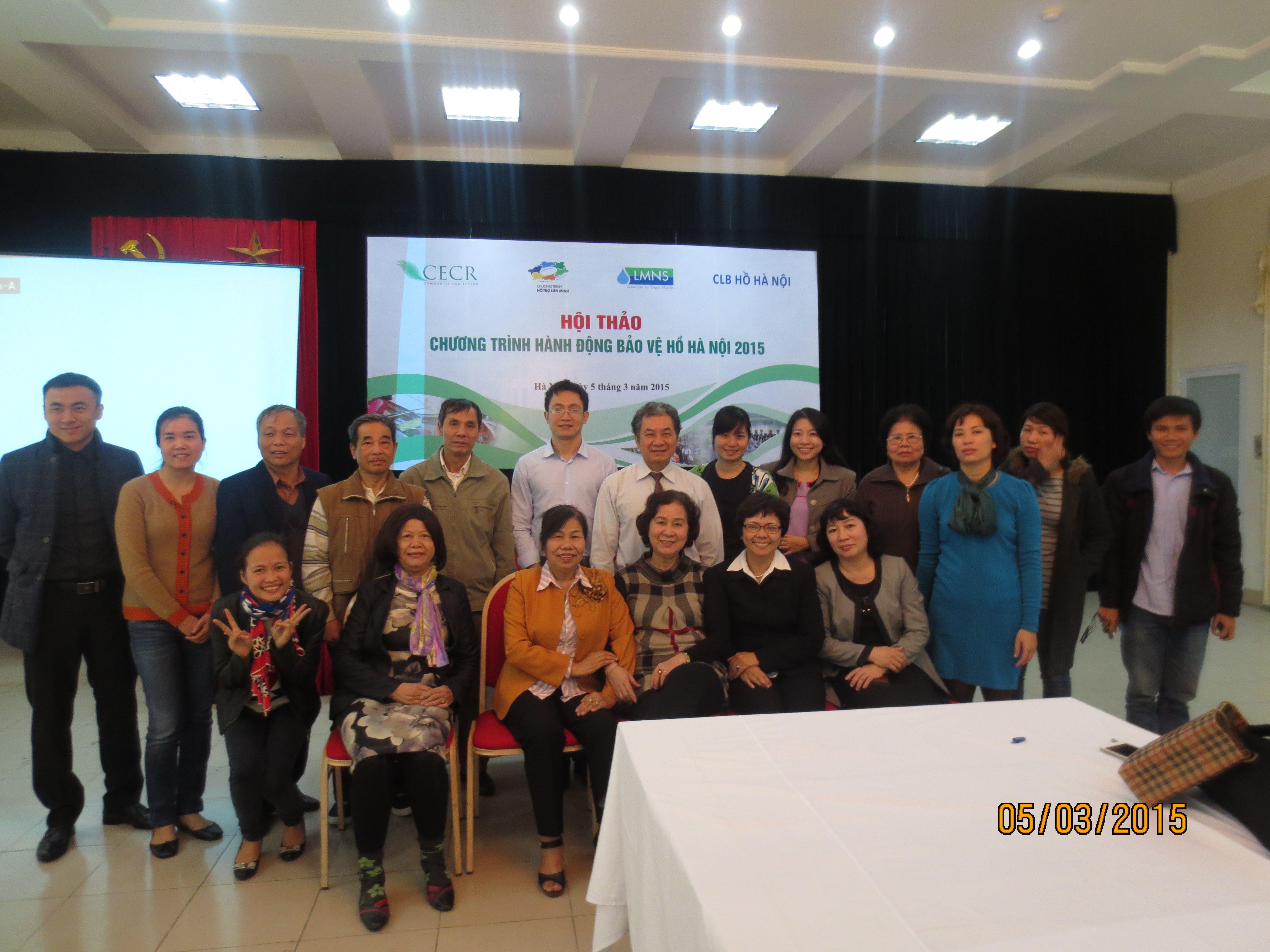 """Hội thảo """"Chương trình hành động bảo vệ hồ Hà Nội 2015"""""""