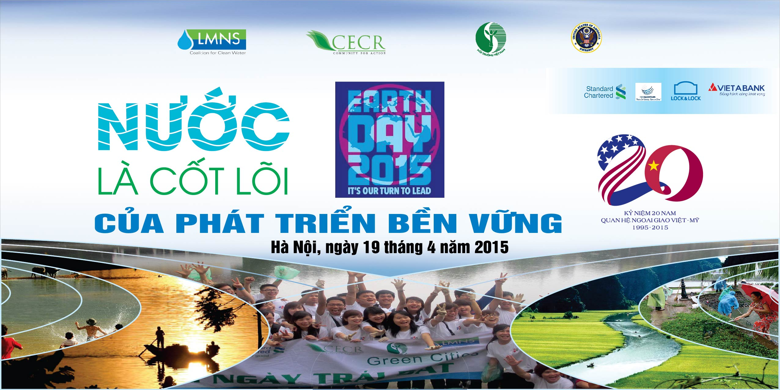 "Earth Day 2015: ""Water is the core of sustainable development – Join hands to protect Hanoi lakes"""