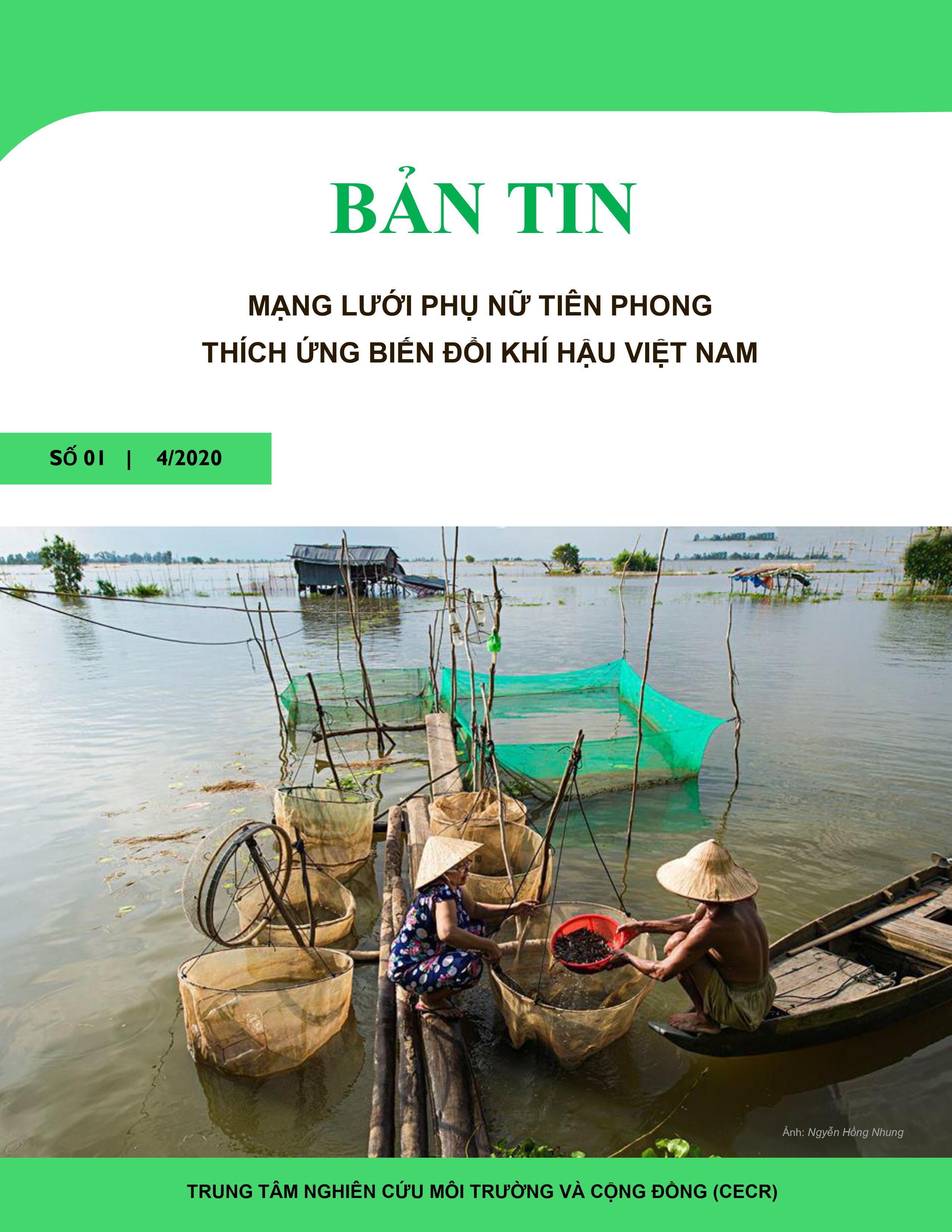 Bản tin điện tử Mạng lưới Phụ nữ Tiên phong Thích ứng BĐKH Việt Nam 01 tháng 4/2020