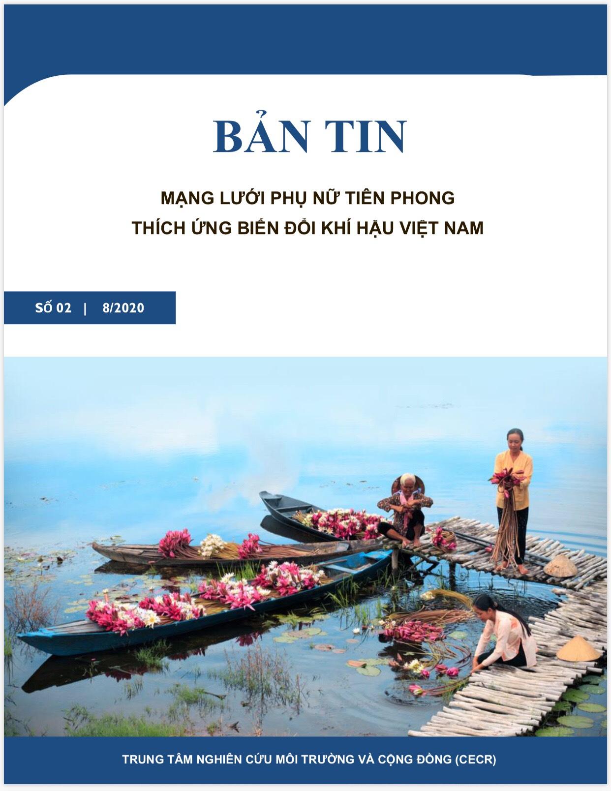Bản tin điện tử Mạng lưới Phụ nữ Tiên phong Thích ứng BĐKH Việt Nam 02 tháng 8/2020