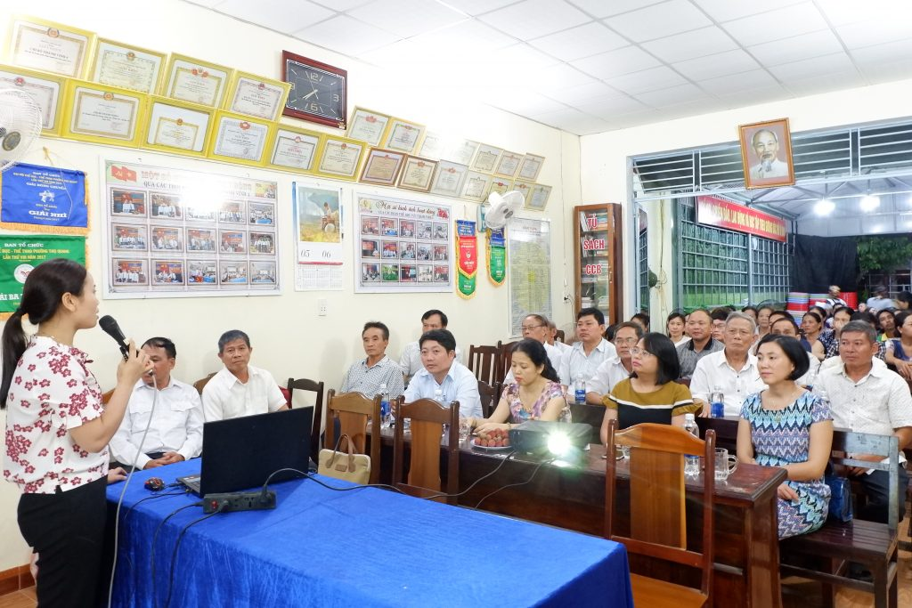 Promotion of the trash separation model at Tho Quang Ward