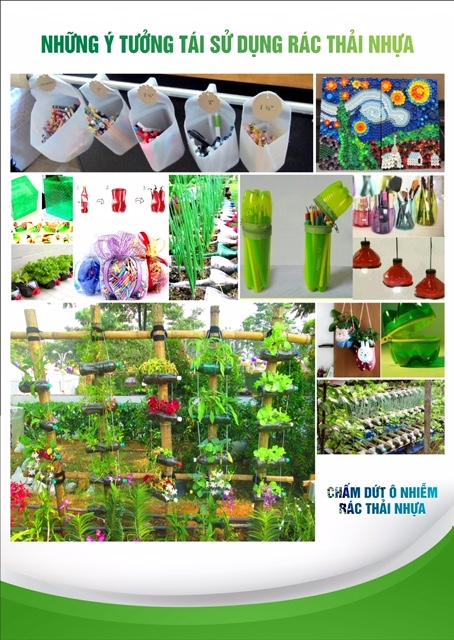 Những ý tưởng tái sử dụng rác thải nhựa